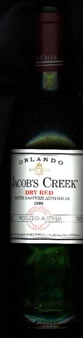 Jacob`s Creek Dry Red ( Orlando Wines ) 1992