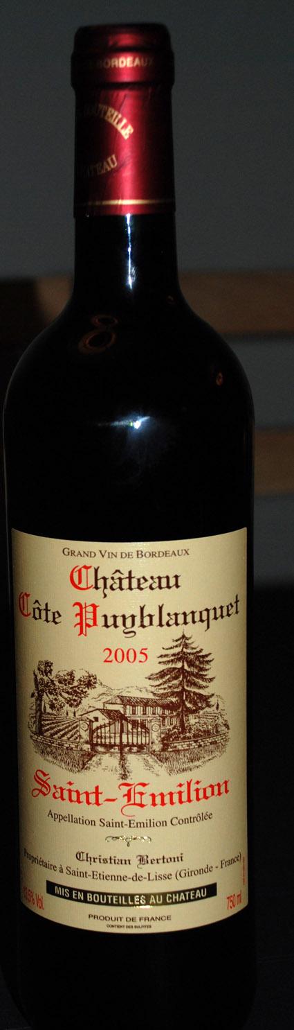 Château Côte Puyblanquet ( Christian Bertoni ) 2005