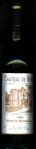 Cotes du Roussillon Chateau de Riere 1996