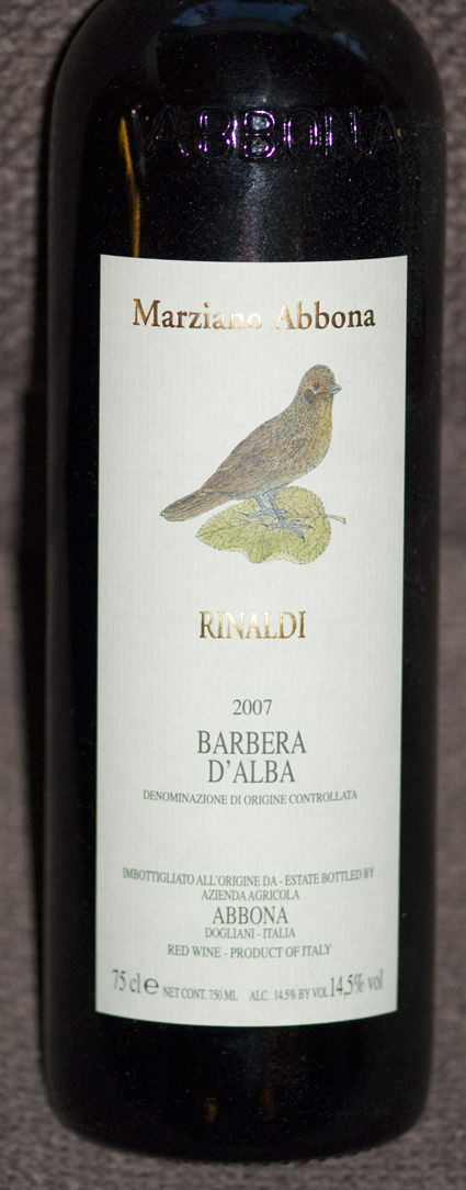 Barbera D`Alba Rinaldi ( Abbona ) 2005