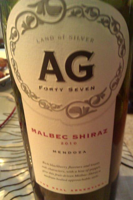 AG Forty Seven Malbec Shiraz ( Argento Wine ) 2012