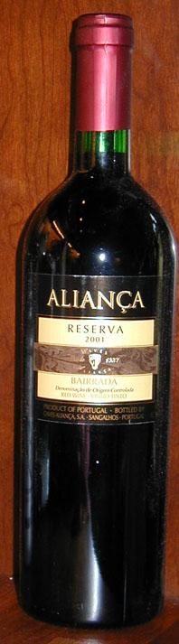 Aliança Bairrada Reserva ( Casa Santos Lima ) 2001