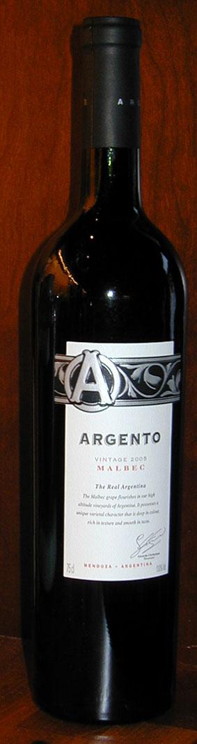 Argento Malbec ( Argento Wine ) 2005