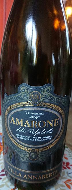 Amarone della Valpolicella ( Villa Annaberta ) 2014