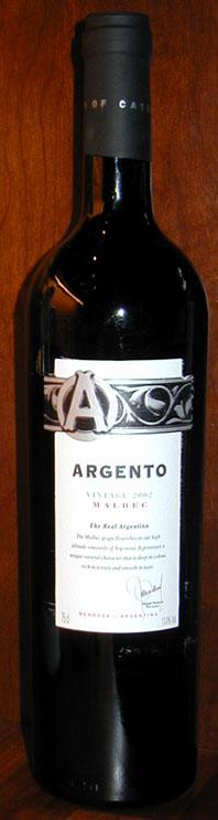 Argento Malbec ( Argento Wine ) 2002
