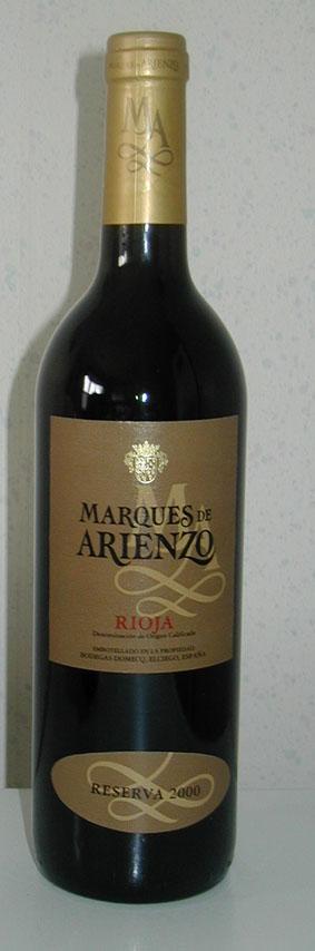 Marqués de Arienzo Reserva ( Marqués de Riscal ) 2012