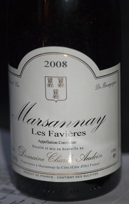 Marsannay Les Favières ( Domaine Charles Audoin ) 2011