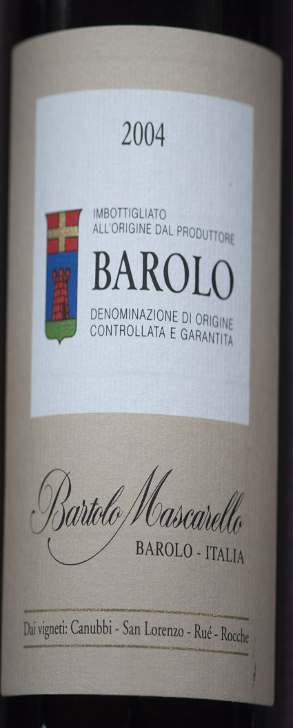 Barolo ( Bartolo Mascarello ) 2007