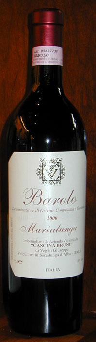 Barolo Marialunga ( Cascina Bruni ) 2000