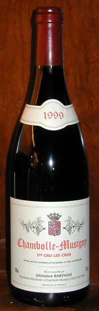 Chambolle-Musigny 1. cru les Cras ( Domaine Ghislaine Barthod ) 1999