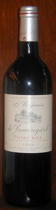 Le Benjamin de Beauregard 1999