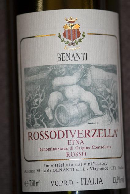 Etna Rosso Rosso di Verzella ( Benanti ) 2009