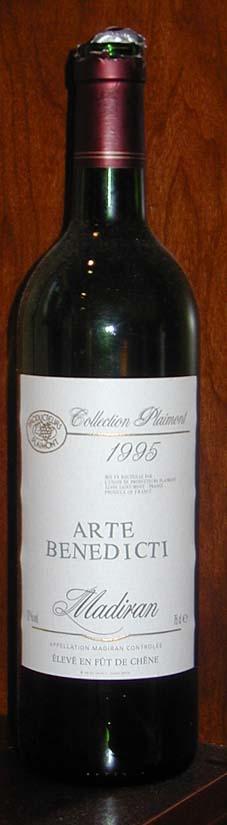 Madiran Arte Benedicti ( Producteurs Plaimont ) 1995