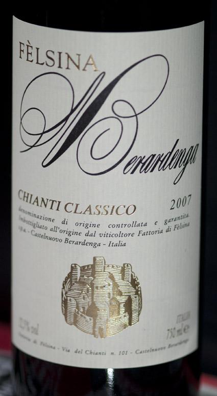 Chianti Classico Berardenga ( Fattoria di Felsina ) 2007