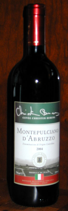 Montepulciano d`abruzzo Cuvée Christer Berens ( Farnese ) 2004