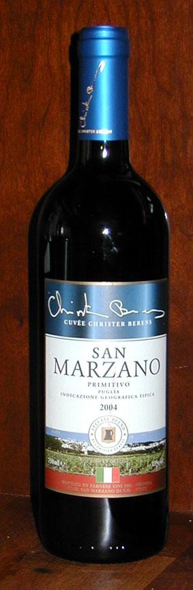 San Marzano Primitivo Cuvée Christer Berens ( Farnese ) 2013