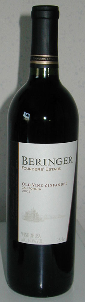 Old Vine Zinfandel, Beringer Founders` Estate ( Beringer Vineyards ) 2005