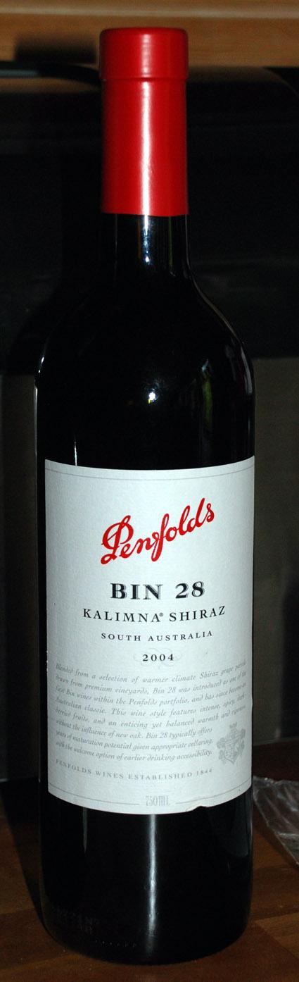 Bin 28 Kalimna Shiraz ( Penfolds Wines ) 2004