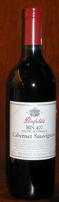 Bin 407 Cabernet Sauvignon ( Penfolds Wines ) 1997