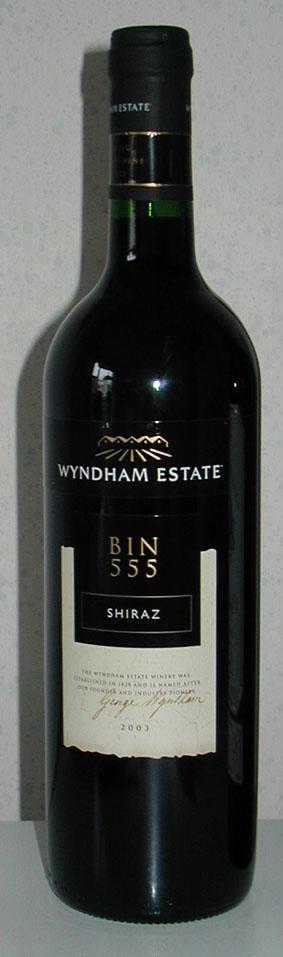 Bin 555 Shiraz ( Wyndham Estate ) 2003
