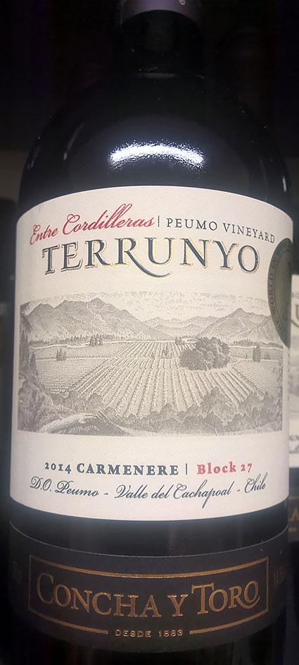 Terrunyo Carménère Block 27 Peumo Vineyard ( Concha y Toro ) 2012