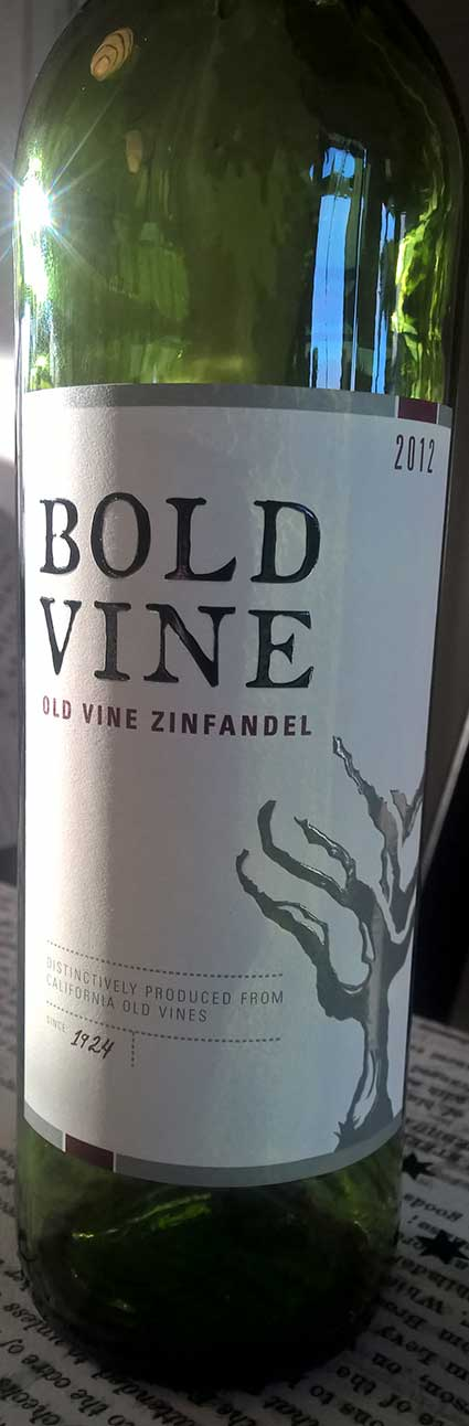 Bold Vine Old Vine Zinfandel ( Delicato Family Vineyards ) 2012