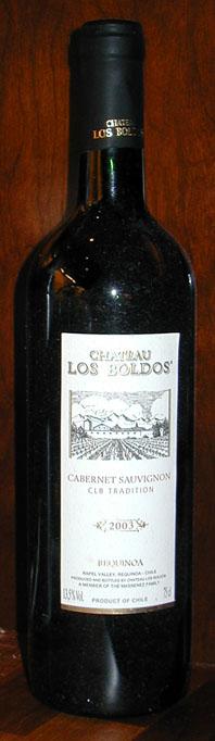 Cabernet Sauvignon ( Chateau los Boldos ) 2003