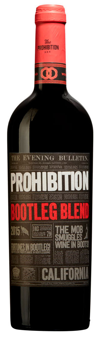 Prohibition Bootleg Red Blend ( Urban Beverages ) 2015