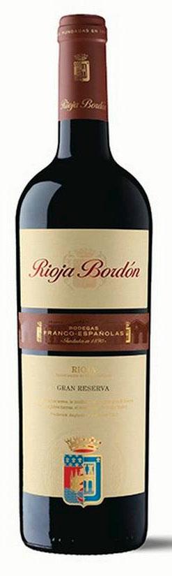 Rioja Bordón Gran Reserva ( Bodegas Franco-Españolas ) 1999