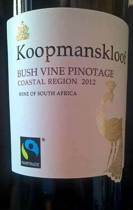 Bush Vine Pinotage ( Koopmanskloof Wingerde ) 2012