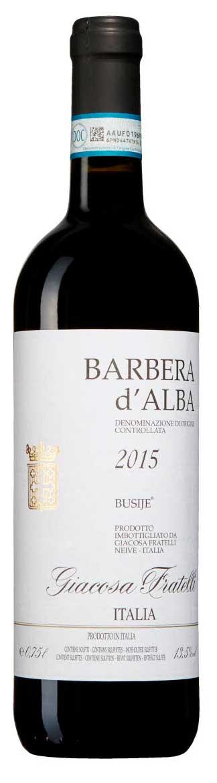 Barbera d`Alba Busije ( Giacosa Fratelli ) 2015