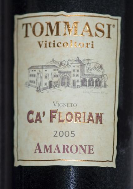 Amarone Ca`Florian ( Tommasi ) 2009