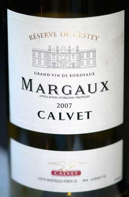 Calvet Margaux ( Les Grands Chais de France ) 2007