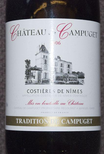 Tradition Costières de Nîmes ( Château de Campuget ) 2016