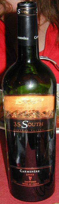 35 South Carmenère ( Vina San Pedro ) 2003
