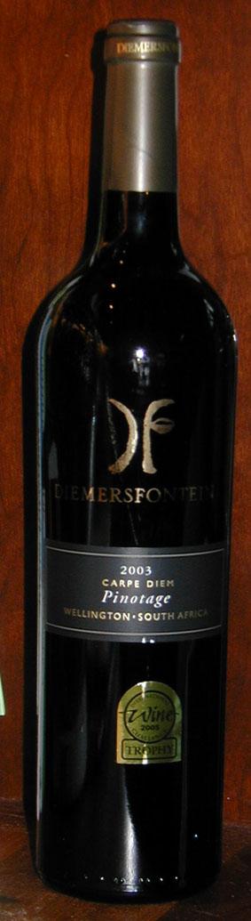 Carpe Diem Pinotage ( Diemersfontein ) 2003