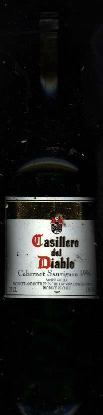 Casillero del Diablo Cabernet Sauvignon ( Concha y Toro ) 1996