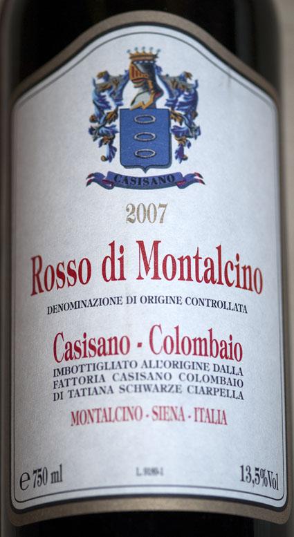 Rosso di Montalcino ( Casisano-Colombaio ) 2007