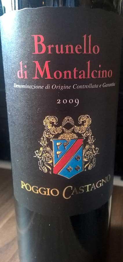 Brunello de Montalcino ( Poggio Castagno ) 2009