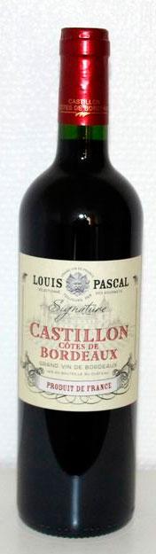 Louis Pascal Signature Castillon Côtes de Bordeaux ( Vignobles Lavau ) 2012
