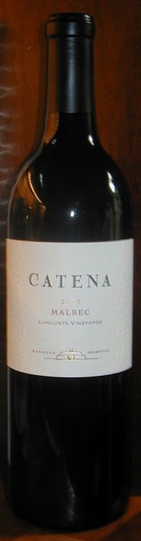 Catena Malbec ( Catena Zapata ) 2000