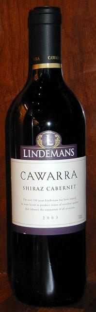 Cawarra Shiraz Cabernet ( Lindemans ) 2003