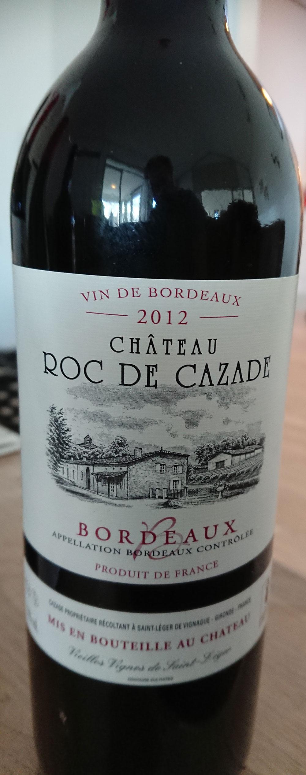 Château Roc de Cazade ( Cazade Vins ) 2012