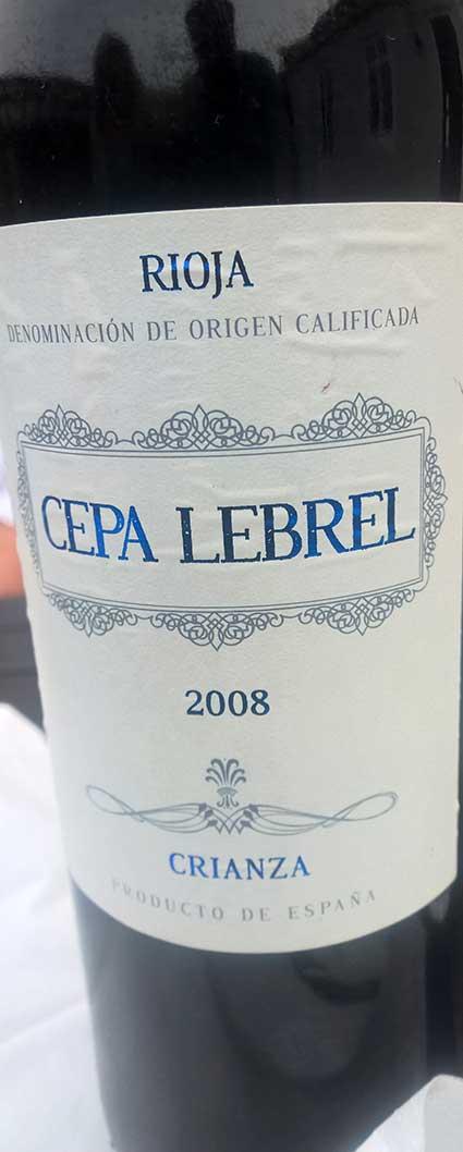 Rioja Crianza ( Cepa Lebrel ) 2008