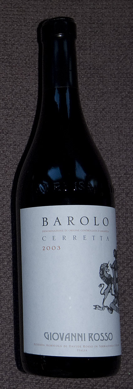 Barolo Cerretta ( Giovanni Rosso ) 2003