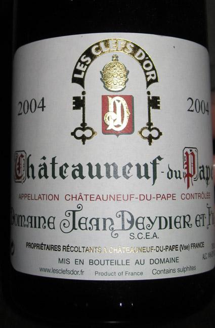 Châteauneuf-du-Pape Rouge ( Jean Deydier et Fils ) 2004
