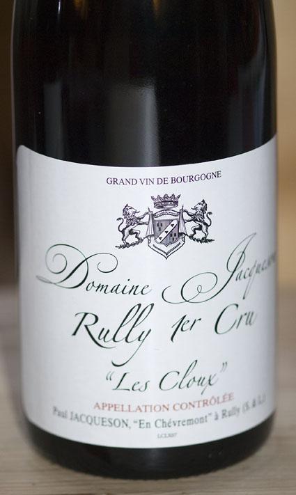 Rully 1er Cru les Cloux ( Jacqueson ) 2011
