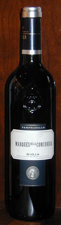 Tempranillo ( Bodegas Marqués de La Concordia ) 2010