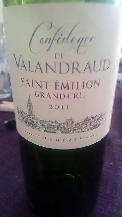 Confidence de Valandraud ( Château Valandraud ) 2014