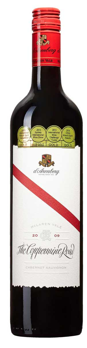 The Coppermine Road  Cabernet Sauvignon ( D`Arenberg ) 2004